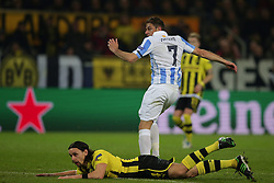 09.04.2013, Signal Iduna Park, Dortmund, GER, UEFA Champions League, Borussia Dortmund vs FC Malaga, Viertelfinale, Rueckspiel, im Bild, Neven SUBOTIC (Borussia Dortmund - BVB - 4) am Boden JOAQUIN, Joaquin SANCHEZ RODRIGUEZ (FC Malaga - 7) hat gerade das Tor zum 0-1 gemacht // during the UEFA Champions League best of eight 2nd leg match between Borussia Dortmund and Malaga FC at the Signal Iduna Park, Dortmund, Germany on 2013/04/09. EXPA Pictures © 2013, PhotoCredit: EXPA/ Eibner/ Gerry Schmit..***** ATTENTION - OUT OF GER *****