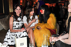 Left to right, OPHELIA LOVIBOND, CAROLINE FLACK and JAMEELA JAMIL at the Baileys Spirited Women party at Cafe Royal Hotel, Regent's Street, London on 21st March 2013.