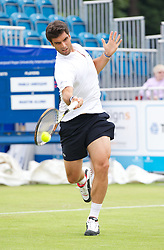 LIVERPOOL, ENGLAND - Thursday, June 20, 2013: Pablo Andujar during the Day One at the Liverpool Hope University International Tennis Tournament at Calderstones Park. (Pic by David Rawcliffe/Propaganda)