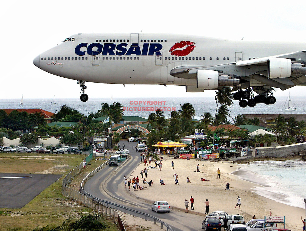 The airport at St Maarten.