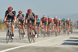 October 14, 2017 - Izmir, Turkey - Members of the UAE Team Emirates in the lead during the fifth stage - the 166 km Vestel Selcuk to Izmir, the second last stage of the 53rd Presidential Cycling Tour of Turkey 2017..On Saturday, 14 October 2017, in Izmir, Turkey. (Credit Image: © Artur Widak/NurPhoto via ZUMA Press)