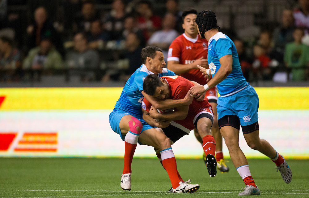 Philip Mack of Canada plays Russia at the HSBC Sevens World Series XVII Round 6 at B.C. Place Stadium in Vancouver, British Columbia on March 12, 2016. Canada would beat Russia 29-12. (KevinLight/CBCSports)