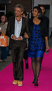 Toulou Kiki et Abel Jafri sur le tapis rouge lors de la soirée de remise des bayards lors de la  29eme édition du Festival du Film Francophone, Namur le 03 octobre 2014 Belgique