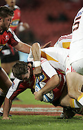 JOHANNESBURG, SOUTH AFRICA - 23 April 2011: Cobus Grobbelaar of the Lions during the Super Rugby Match between the MTN Lions and the Chiefs held at Coca Cola Park Stadium, Johannesburg, South Africa. Photo by Dominic Barnardt
