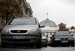 September 6, 2017 - Kiev, Ukraine - Several hundred owners of foreign-registered vehicles blocks the government quarter with their cars and protest in front the Ukrainian Parliament as they to change the rules of customs clearance of cars, Kiev, Ukraine, September 6,  2017. (Credit Image: © Sergii Kharchenko/NurPhoto via ZUMA Press)