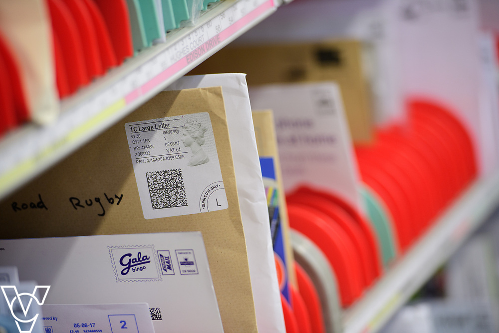 Royal Mail Rugby mail processing unit - stock photography.  <br /> <br /> Picture: Chris Vaughan Photography<br /> Date: June 6, 2017
