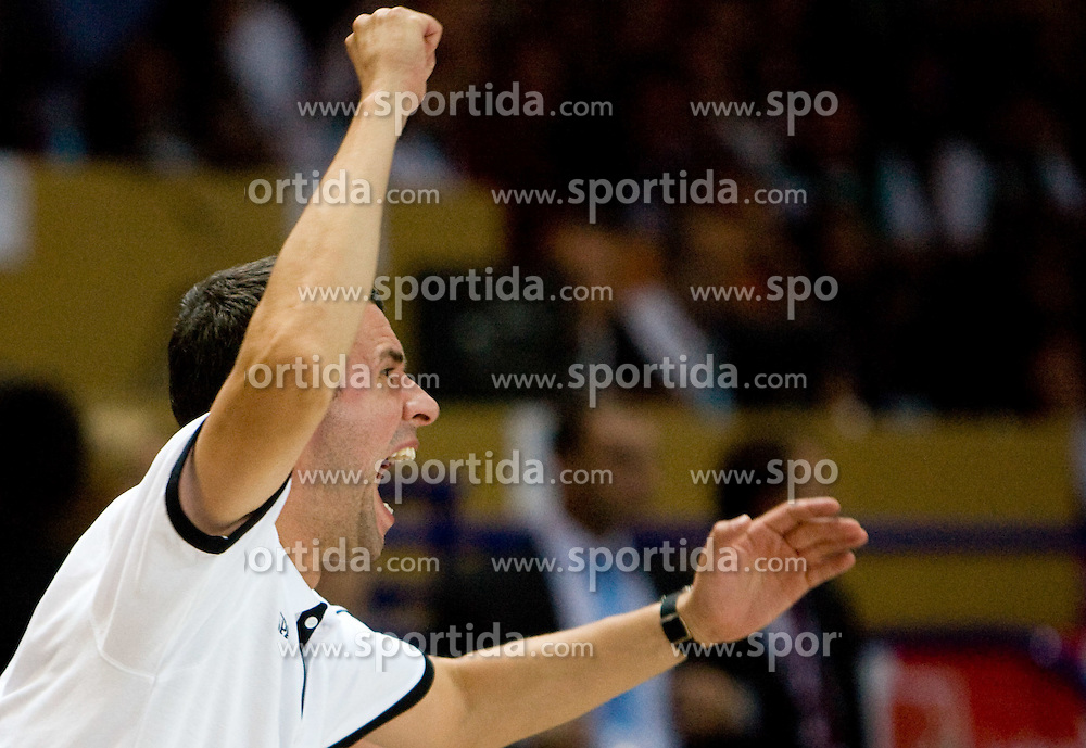 Assistant coach of Slovenia Miro Alilovic  during the basketball match at Preliminary Round of Eurobasket 2009 in Group C between Slovenia and Spain, on September 09, 2009 in Arena Torwar, Warsaw, Poland. Spain won 90:84 after overtime.  (Photo by Vid Ponikvar / Sportida)