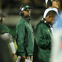 USF head coach Willie Taggart  is seen on the sidelines during an NCAA football game between the South Florida Bulls and the 17th ranked University of Central Florida Knights at Bright House Networks Stadium on Friday, November 29, 2013 in Orlando, Florida. (AP Photo/Alex Menendez)