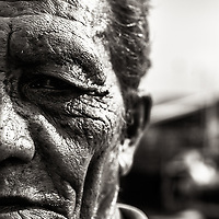 This old man was our boat guide in the Jakarta port in Indonesia. He looks so kind, but in a way tired. It was a privilege to spend some time with him.