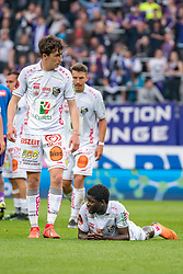 19.05.2019, Generali Arena, Wien, AUT, 1. FBL, FK Austria Wien vs RZ Pellets WAC, Meistergruppe, 31. Spieltag, im Bild v. l. Romano Schmid (RZ Pellets WAC), Sekou Koita (RZ Pellets WAC) // during the tipico Bundesliga Champions group 31st round match between FK Austria Wien and RZ Pellets WAC at the Generali Arena in Wien, Austria on 2019/05/19. EXPA Pictures © 2019, PhotoCredit: EXPA/ Florian Schroetter