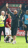Photo: Dave Linney.<br />Walsall v Mansfield Town. Coca Cola League 2. 30/09/2006. Walsall Mgr Richard Money celebrates at the end of the game.