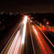 Night time long exposure taken about 200 feet over Route 29 near Columbia in Maryland. Please select Shopping Cart Below to Purchase prints and gallery-wrapped canvases, magnets, t-shirts and other accessories