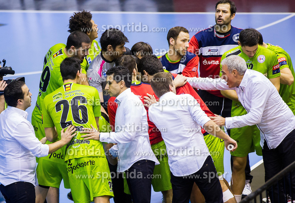Players of La Rioja during handball match between RK Gorenje Velenje and Naturhouse La Rioja in Round 6 of Group D of EHF Men's Champions League 2013/14, on November 23, 2013 in Rdeca dvorana, Velenje, Slovenia. Photo by Vid Ponikvar / Sportida