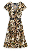 gwen stefani scarlett cheetah print summer dress with black belt