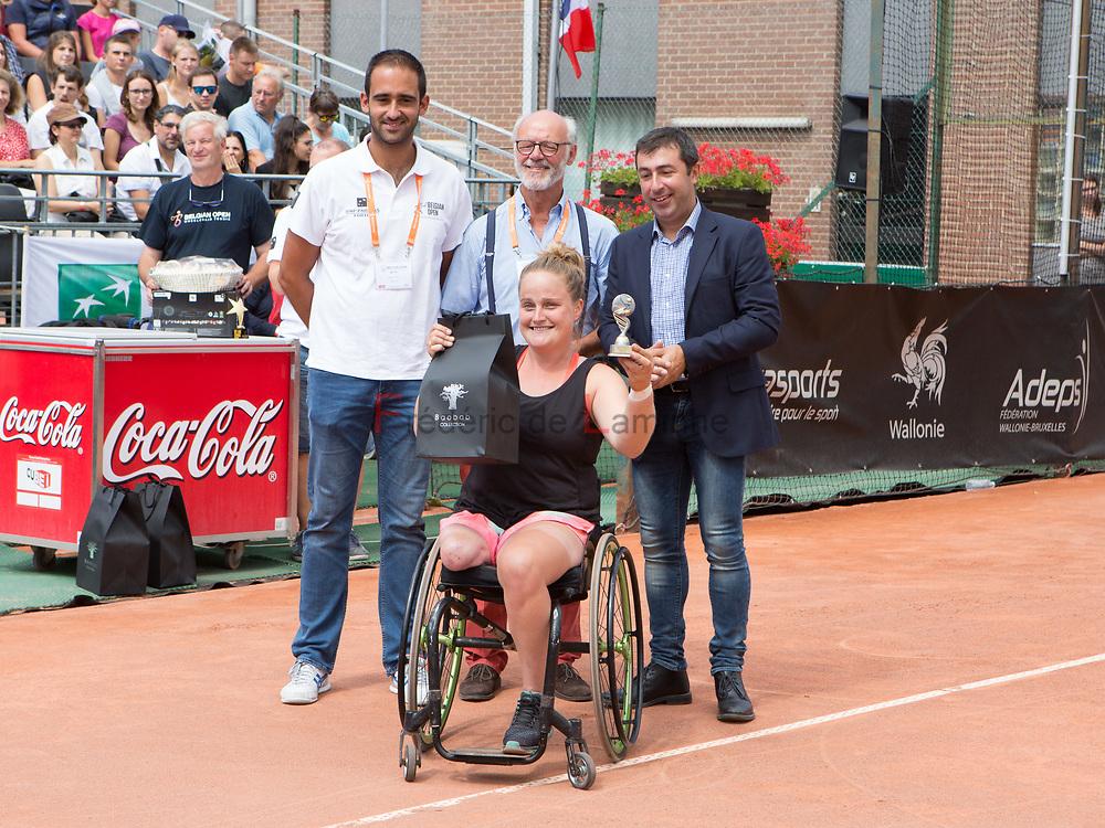 20170730 - Namur, Belgium :  Aniek Van Koot (NED) played the finale against Yui Kamiji (JPN) during the 30th Belgian Open Wheelchair tennis tournament on 30/07/2017 in Namur (TC Géronsart). © Frédéric de Laminne