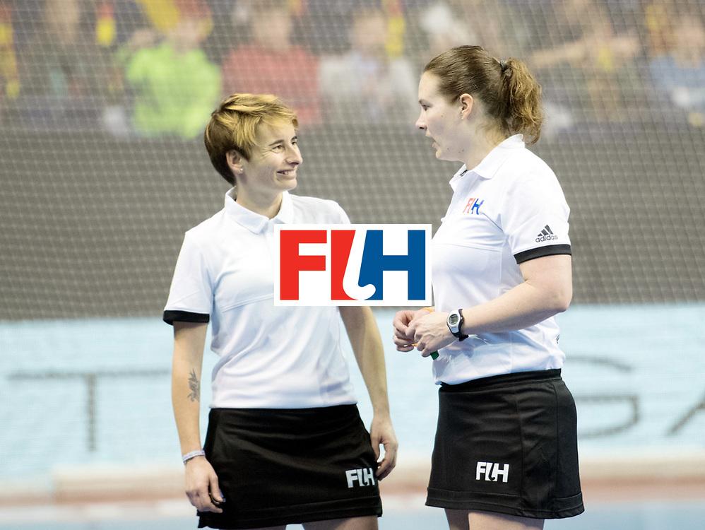 BERLIN - Indoor Hockey World Cup<br /> Bronze: Ukraine - Belarus<br /> foto: Klarine Alves and Claire Druijts<br /> WORLDSPORTPICS COPYRIGHT FRANK UIJLENBROEK