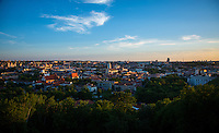 Vilnius, Lithuania- June 6, 2015: The sun sets on the old town of Vilnius, which was recognized as an UNESCO World Heritage site in 1994. While much of the surrounding area still bears the marks of the Soviet days, the old town offers vibrant new offerings on a backdrop of Gothic, Renaissance, Baroque and classical architecture. CREDIT: Chris Carmichael for The New York Times