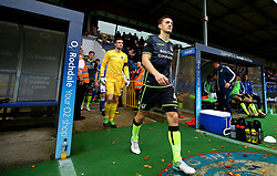 Tom Lockyer of Bristol Rovers leads his side out to face Rochdale - Mandatory by-line: Robbie Stephenson/JMP - 21/10/2017 - FOOTBALL - Crown Oil Arena - Rochdale, England - Rochdale v Bristol Rovers - Sky Bet League One