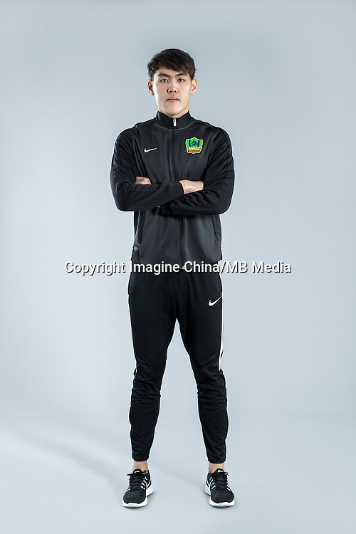 Portrait of Chinese soccer player Li Lei of Guizhou Hengfeng Zhicheng F.C. for the 2017 Chinese Football Association Super League, in Guiyang city, southwest China's Guizhou province, 23 February 2017.