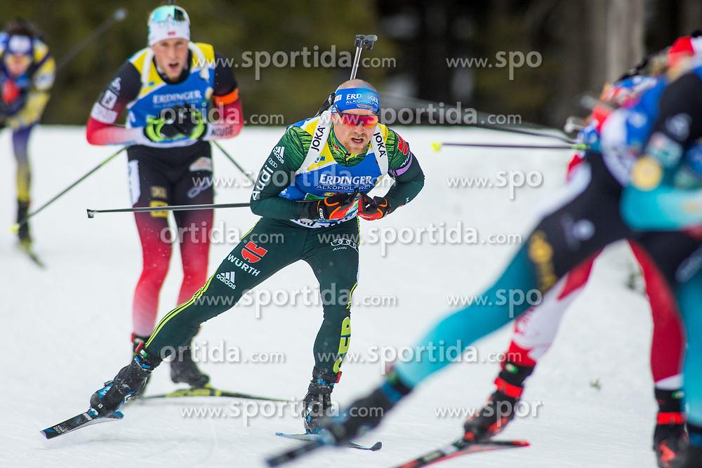 Erik Lesser (GER) during Single Mixed Relay at day 1 of IBU Biathlon World Cup 2018/19 Pokljuka, on December 2, 2018 in Rudno polje, Pokljuka, Pokljuka, Slovenia. Photo by Ziga Zupan / Sportida