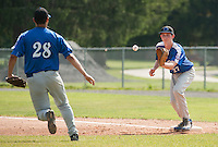 Concord Post 21 versus Big Blue at Memorial Field July 4, 2012.   (Karen Bobotas/for the Concord Monitor)