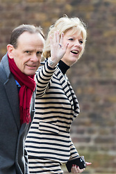 Downing Street, London, March 31st 2016. Small Business Minister Anna Soubry is doorstepped by the BBC's Norman Smith as she leaves Downing Street following an emergency meeting of senior government officials to discuss strategies aimed at saving the British steel industry following Tata Steel's decision to close the loss-making Port Talbot steel plant at Downing Street, London. &copy;Paul Davey<br /> FOR LICENCING CONTACT: Paul Davey +44 (0) 7966 016 296 paul@pauldaveycreative.co.uk