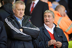 LIVERPOOL, ENGLAND - Thursday, May 14, 2009: Liverpool's Chief-Executive Rick Parry and Honorary Life President David Moores during the Hillsborough Memorial Charity Game at Anfield. (Photo by David Rawcliffe/Propaganda)