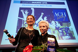 Janja Bozic Marolt of Mediana and Ivanka Mihelcic of ACH Volley  during Sporto  2010 Gala Dinner and Awards ceremony at Sports marketing and sponsorship conference, on November 29, 2010 in Hotel Slovenija, Portoroz/Portorose, Slovenia. (Photo By Vid Ponikvar / Sportida.com)
