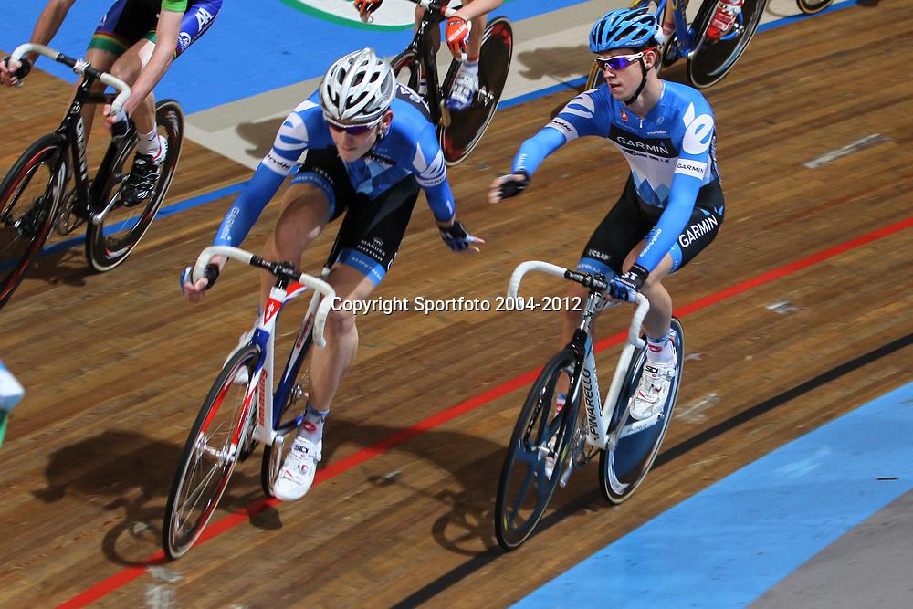 Jorn Bruning en Stefan KReder werden vierde op het NK koppelkoers junioren