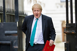 © Licensed to London News Pictures. 24/04/2018. London, UK. Foreign Secretary Boris Johnson on Downing Street for the weekly Cabinet meeting. Photo credit: Rob Pinney/LNP
