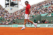 Roland Garros 2011. Paris, France. May 27th 2011..Swiss player Roger FEDERER against Janko TIPSAREVIC