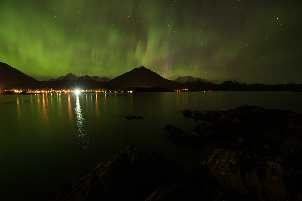 Northern lights above Sitka
