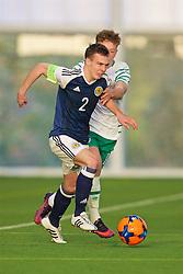 EDINBURGH, SCOTLAND - Friday, November 4, 2016: Scotland's captain Chris Hamilton in action against Republic of Ireland during the Under-16 2016 Victory Shield match at ORIAM. (Pic by David Rawcliffe/Propaganda)