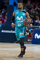 Movistar Estudiantes Omar Cook during Liga Endesa match between Estudiantes and UCAM Murcia at Wizink Center in Madrid, Spain. December 03, 2017. (ALTERPHOTOS/Borja B.Hojas)