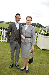 FERNANDO MONTANO and MARINA POPLAVSKAYA at the 2013 Cartier Queens Cup Polo at Guards Polo Club, Berkshire on 16th June 2013.