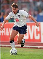 Fotball<br /> EM-sluttspillet 1992<br /> Sverige v England<br /> Foto: Digitalsport<br /> Norway Only<br /> Paul Merson, England