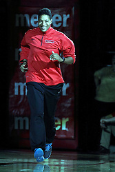 23Oct2015: Assistant coach Cathy Boswell. Illinois State Redbirds Hoopfest is an annual pre-season event to introduce the basketball team to the fans.