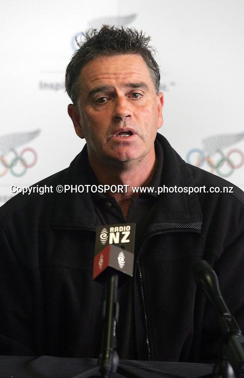 Athletics NZ (ANZ) convener of selectors John Bowden. New Zealand Olympic Committee Athletics Team Announcement, Mt Smart Stadium, Auckland, Wednesday 16 April 2008. Photo: Renee McKay/PHOTOSPORT