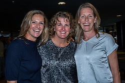 11-08-2019 NED: FIVB Tokyo Volleyball Qualification 2019 / Netherlands - USA, Rotterdam<br /> Final match pool B in hall Ahoy between Netherlands vs. United States (1-3) and Olympic ticket  for USA / Lisette van de Ven, Vera Koenen, Cintha Boersma