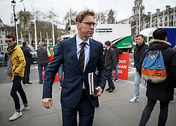 © Licensed to London News Pictures. 27/03/2019. London, UK.  TOBIAS ELLWOOD MP is seen arriving at the Houses of Parliament in London. MPs will hold a series of indicative votes on different Brexit options this evening. Photo credit: Ben Cawthra/LNP