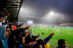 Supporters of Rijeka during football match between HNK Rijeka and HNK Hajduk Split in Round #15 of 1st HNL League 2016/17, on November 5, 2016 in Rujevica stadium, Rijeka, Croatia. Photo by Vid Ponikvar / Sportida