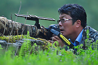 Photographer Mr Li Yuliang, Tangjiahe National Nature Reserve, NNR, Qingchuan County, Sichuan province, China