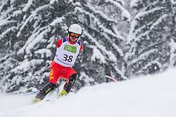 Sun Hongsheng from China during Slalom race at 2019 World Para Alpine Skiing Championship, on January 23, 2019 in Kranjska Gora Slovenia. Photo by Matic Ritonja / Sportida