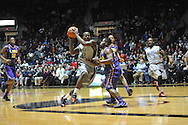 "Mississippi's Jarvis Summers (32) vs. LSU's Andre Stringer (10) at the C.M. ""Tad"" Smith Coliseum in Oxford, Miss. on Wednesday, January 15, 2013. Mississippi won 88-74 in overtime."