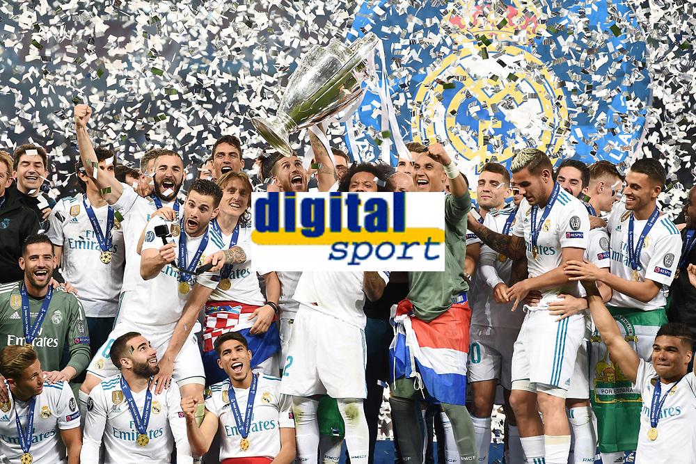 Real Madrid Celebration<br /> Kiev 26-05-2018 Kiev Olympic Stadium <br /> Football Champions League 2017/2018 Final Real Madrid - Liverpool Foto Matteo Gribaudi/Image Sport/Insidefoto