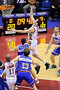 DESCRIZIONE : Milano Coppa Italia Final Eight 2014 Quarti Enel Brindisi Umana Venezia<br /> GIOCATORE : Guido Rosselli<br /> CATEGORIA : penetrazione tiro<br /> SQUADRA : Umana Venezia <br /> EVENTO : Beko Coppa Italia Final Eight 2014 <br /> GARA : Enel Brindisi Umana Venezia<br /> DATA : 07/02/2014 <br /> SPORT : Pallacanestro <br /> AUTORE : Agenzia Ciamillo-Castoria/N.Dalla Mura<br /> GALLERIA : Lega Basket Final Eight Coppa Italia 2014 FOTONOTIZIA : Milano Coppa Italia Final Eight 2014 Quarti Enel Brindisi Umana Venezia