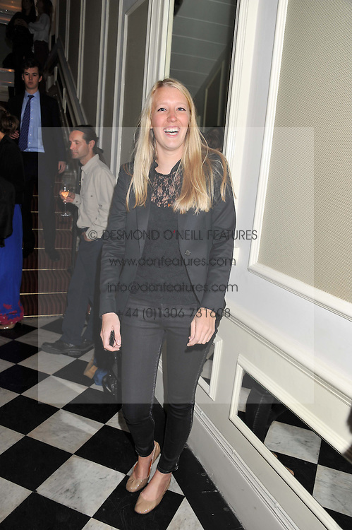 ALICE ROTHSCHILD at a reception hosted by Beulah London and the United Nations to launch Beulah London's AW'11 Collection 'Clothed in Love' and the Beulah Blue Heart Campaign held at Dorsia, 3 Cromwell Road, London SW7 on 18th October 2011.