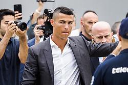 July 16, 2018 - Turin, Italy - Cristiano Ronaldo arrives at Juventus medical center in Turin, Italy, on July 16, 2018. (Credit Image: © Mauro Ujetto/NurPhoto via ZUMA Press)