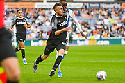 Scott Malone of Derby County (46) in action during the EFL Sky Bet Championship match between Huddersfield Town and Derby County at the John Smiths Stadium, Huddersfield, England on 5 August 2019.