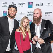NLD/Rotterdam/20161102 - MTV Music Week Official Opening Party 2016, cast Ridiculousness met Edson Da Graca, Gaby Blaaser en televisiemaker Joffrey Breeuwer